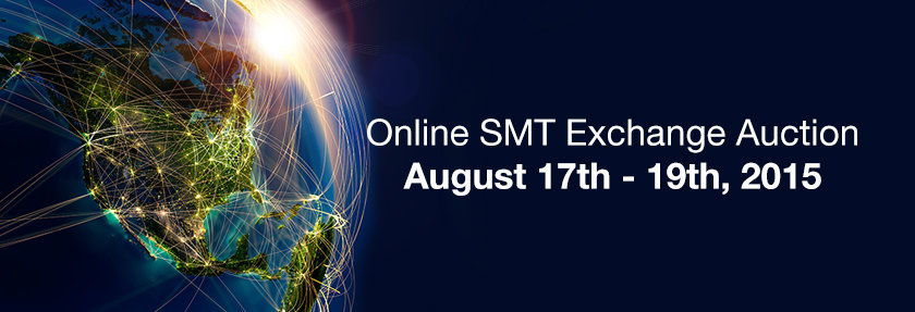 online SMT exchange auction aug 17th 19th