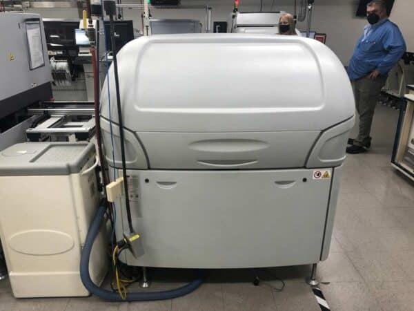 Back facing photo of a 2000 DEK 265 Horizon Screen Printer available for sale.